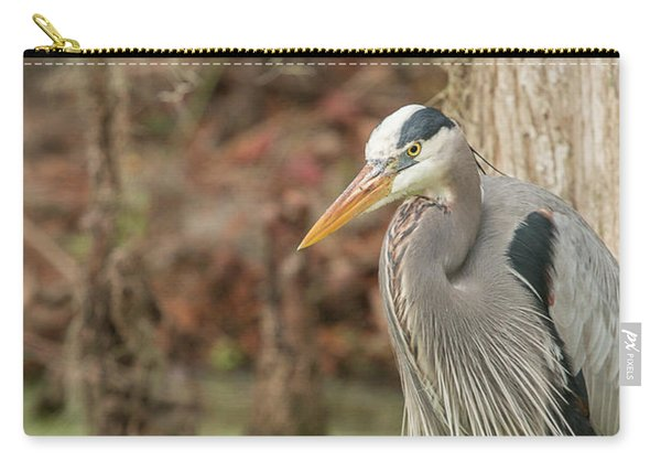 Great Blue Heron On Guard Carry-all Pouch