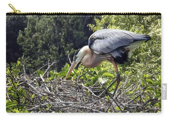 Great Blue Heron On Nest Carry-all Pouch
