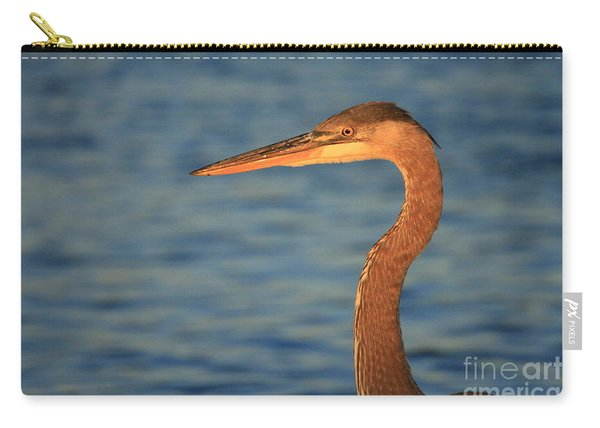 Great Blue Heron Sunset Blue Carry-all Pouch