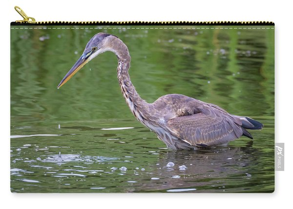 Great Blue Heron - The One That Got Away Carry-all Pouch