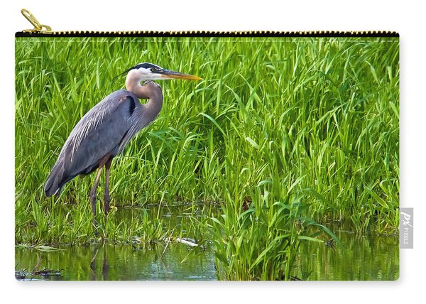 Great Blue Heron Waiting Carry-all Pouch
