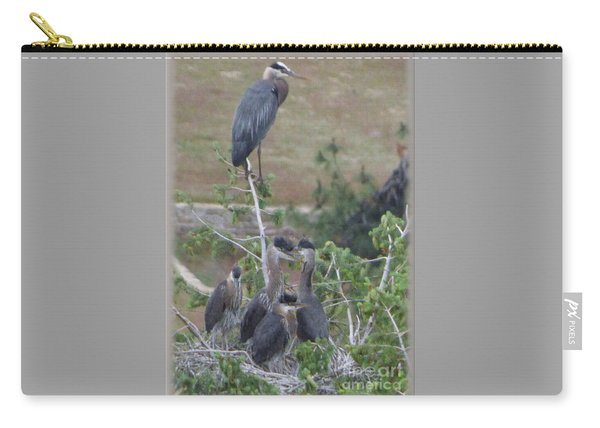Great Blue Heron Watching Over Nest Carry-all Pouch