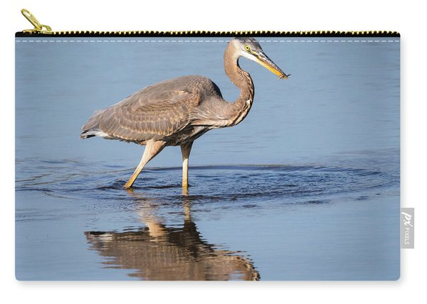 Great Blue Heron With A Small Meal Carry-all Pouch