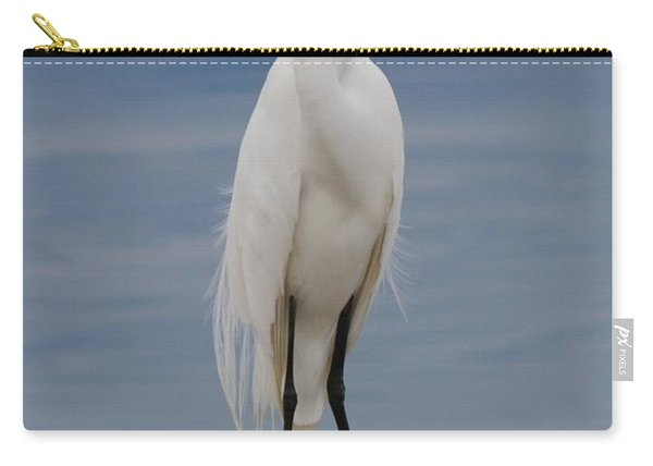 Carry-all Pouch featuring the photograph Great Egret - 3 by Christy Pooschke