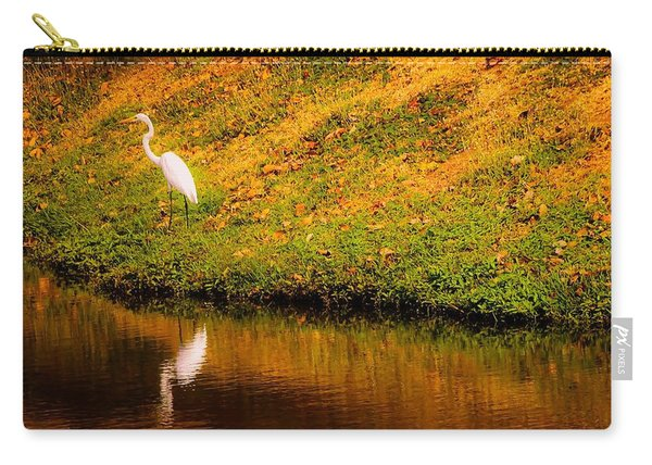 Great Egret At The Lake Carry-all Pouch