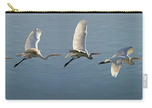 Great Egret Flight Sequence Carry-all Pouch