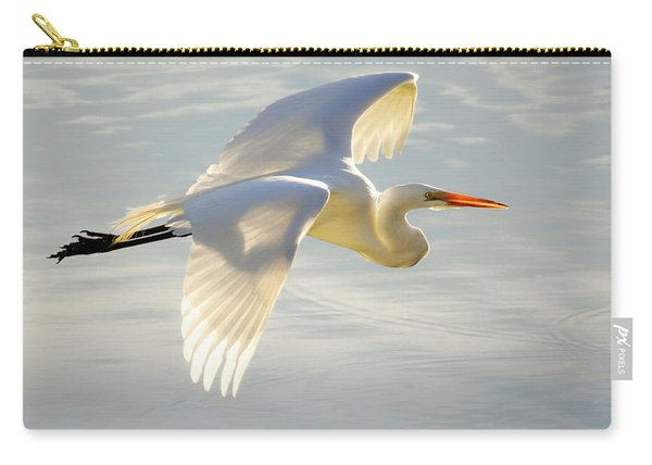 Great Egret Glow Carry-all Pouch