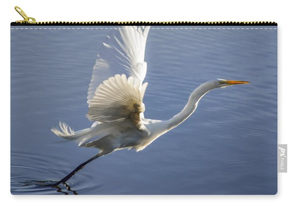 Great Egret Taking Flight Carry-all Pouch