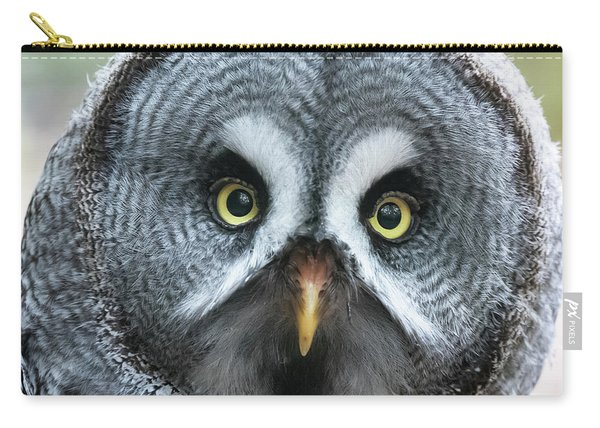 Great Grey Owl Closeup Carry-all Pouch