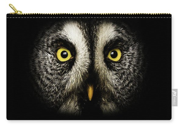 Great Grey Owl Up Close Carry-all Pouch