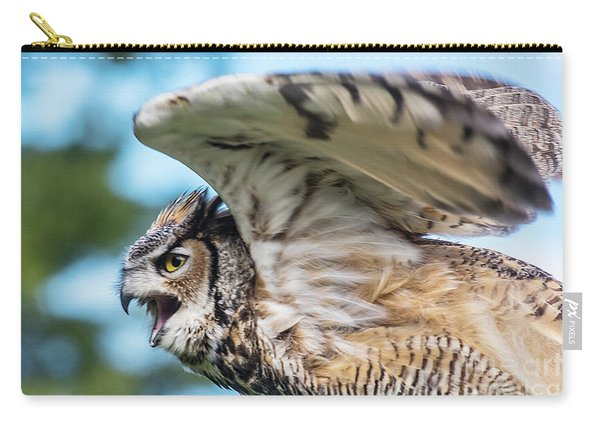 Great Horned Owl-2486 Carry-all Pouch