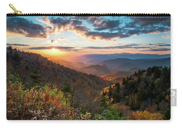 Great Smoky Mountains National Park Nc Scenic Autumn Sunset Landscape Carry-all Pouch