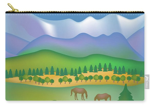 Great Smoky Mountains National Park Vertical Scene Carry-all Pouch