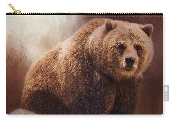 Great Strength - Grizzly Bear Art Carry-all Pouch