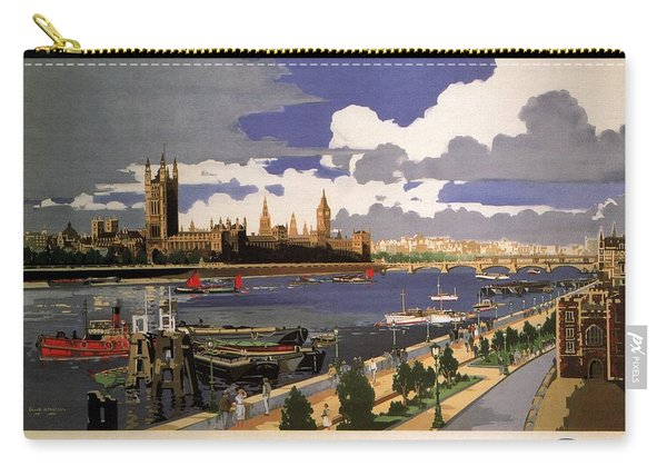 Great Western Railway - London Pride - Retro Travel Poster - Vintage Poster Carry-all Pouch