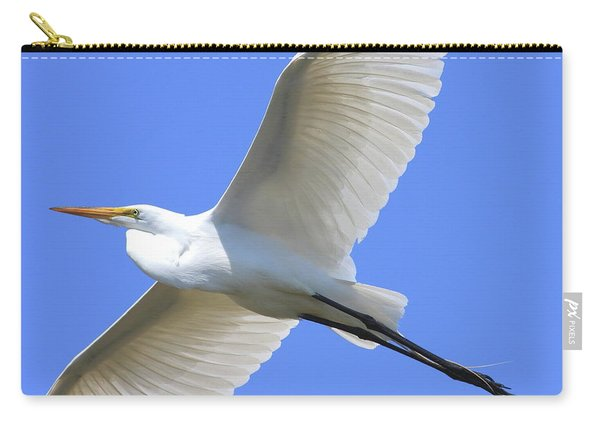 Great White Egret In Flight . 40d6850 Carry-all Pouch