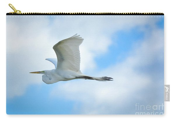 Great White In Flight Carry-all Pouch