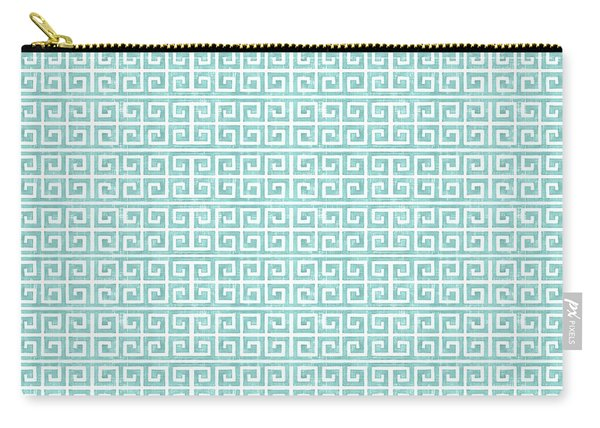 Greek Key Watercolor Pattern Beach Ocean Home Decor Carry-all Pouch