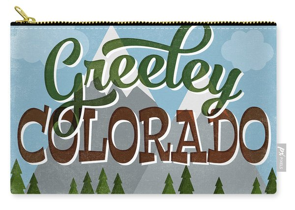 Greeley Colorado Snowy Mountains Carry-all Pouch