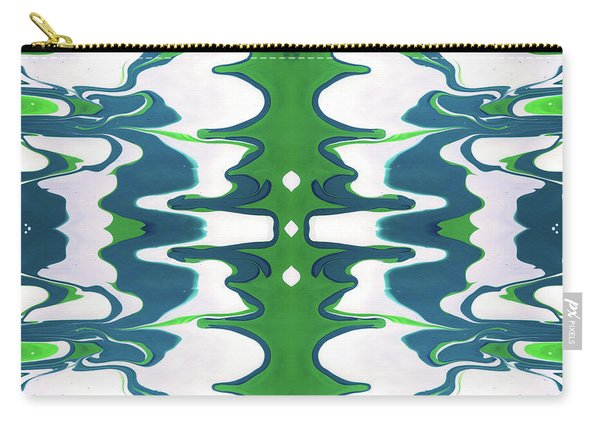 Green And Blue Swirl- Art By Linda Woods Carry-all Pouch