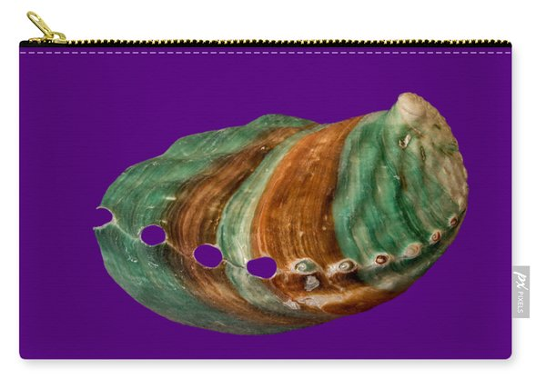 Green And Brown Shell Transparency Carry-all Pouch