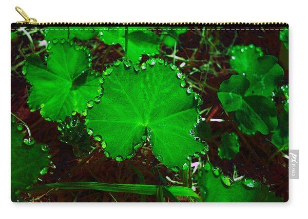 Green And Drops Carry-all Pouch