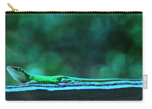 Green Anole Lizard Carry-all Pouch