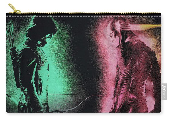 Green Arrow And Flash Carry-all Pouch