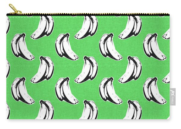 Green Bananas- Art By Linda Woods Carry-all Pouch