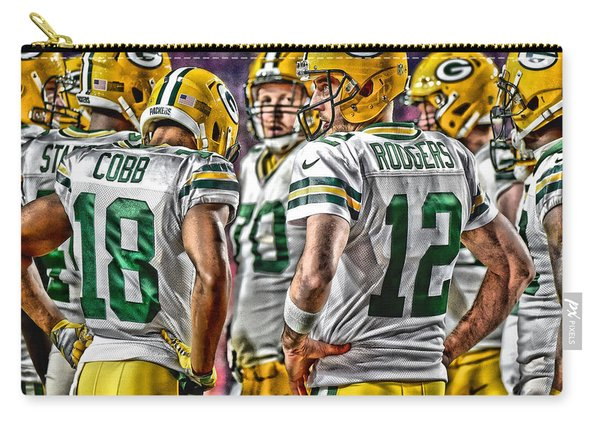 Green Bay Packers Team Art 2 Carry-all Pouch