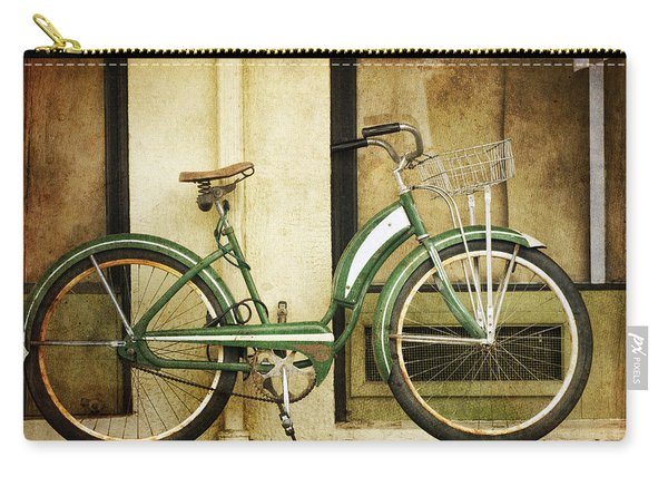 Green Bicycle Carry-all Pouch