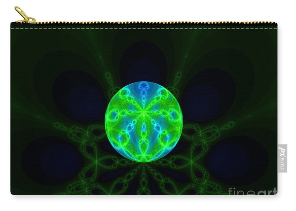 Green Blue World Fractal  Carry-all Pouch