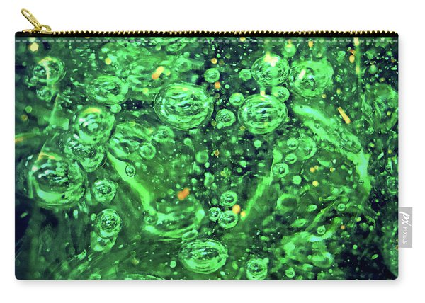 Green Bubbles Floating Carry-all Pouch