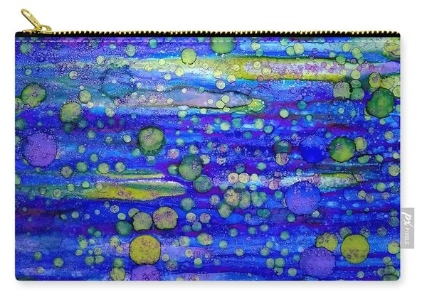 Green Bubbles In A Purple Sea Carry-all Pouch