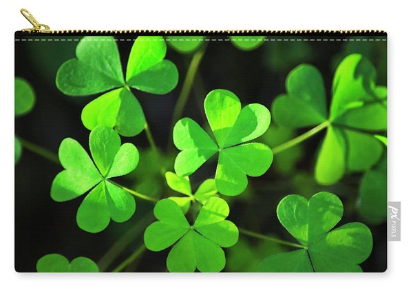 Green Clover Carry-all Pouch