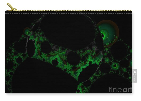 Green Darkness Galaxy Fractal  Carry-all Pouch