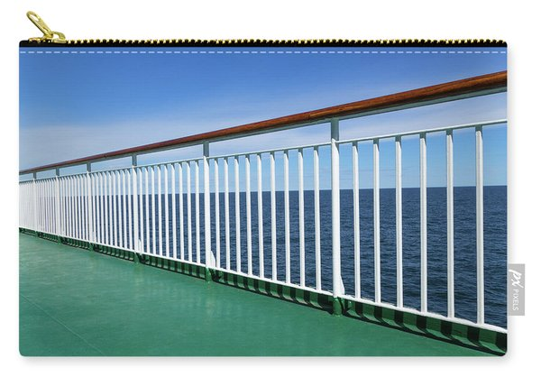 Green Deck Of A Passenger Ship Carry-all Pouch