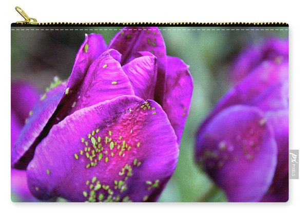 Aphids On Purple Tulips Carry-all Pouch
