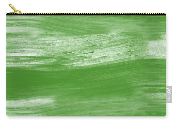 Green Drift- Abstract Art By Linda Woods Carry-all Pouch