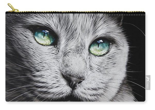 Green-eyed Diva Carry-all Pouch