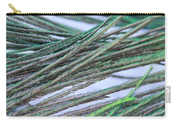 Green Feathers Carry-all Pouch