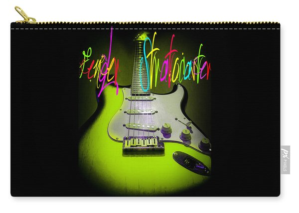 Green Stratocaster Guitar Carry-all Pouch