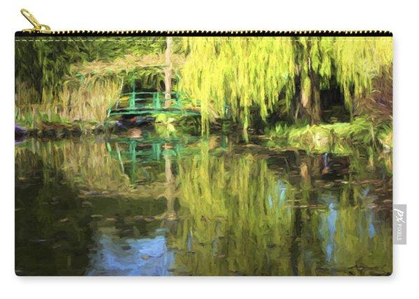 Green Footbridge In Monets Garden Carry-all Pouch