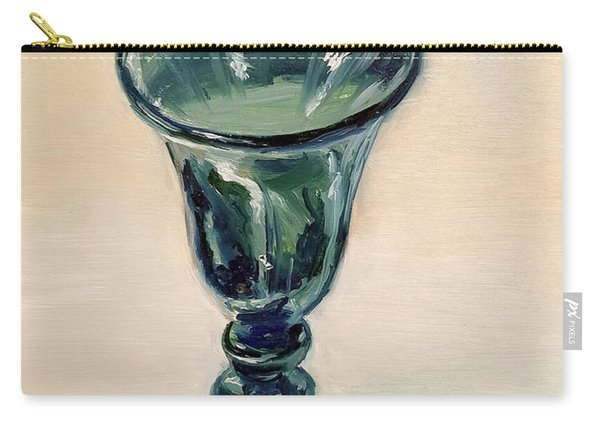 Green Glass Goblet Carry-all Pouch