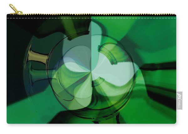 Green Glass Wheels Carry-all Pouch