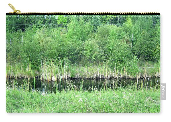 Green Grass Black Water Carry-all Pouch
