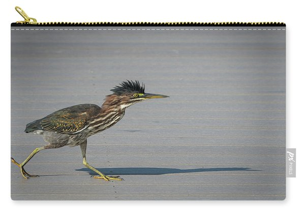Green Heron On A Mission Carry-all Pouch