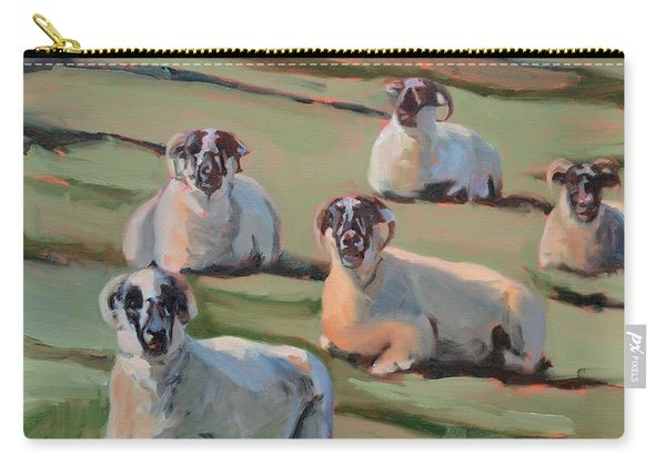 Green Hill Sheep At Rest Carry-all Pouch