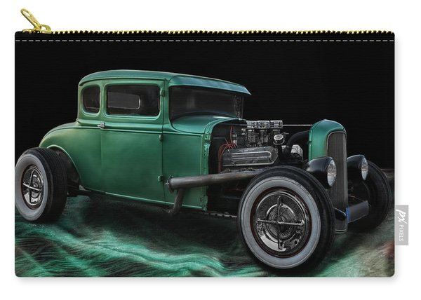 Green Hot Rod Carry-all Pouch