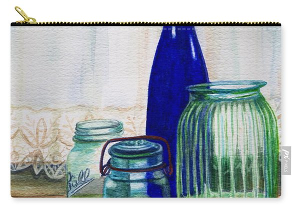 Green Jars Still Life Carry-all Pouch